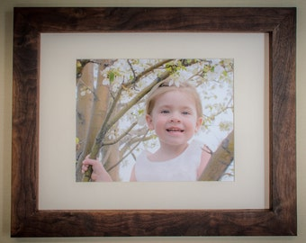 Handmade Picture Frame - Includes a Mat and a Print