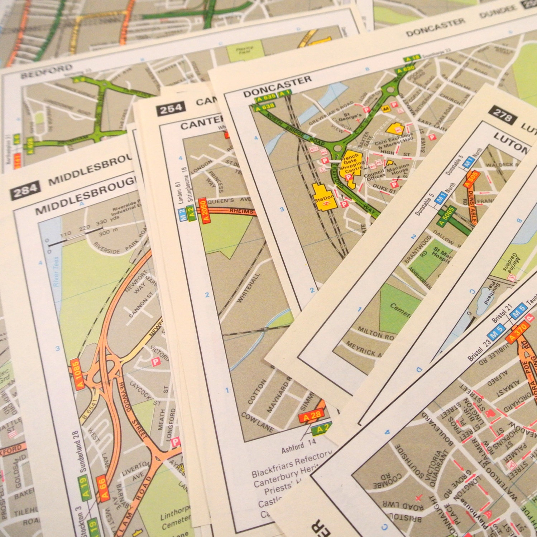 18 Individual Maps of the UK Britain English London | Etsy