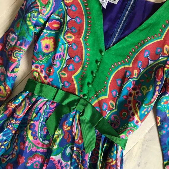 Boho Gown 60's Gown Vintage Maxi Dress - image 4