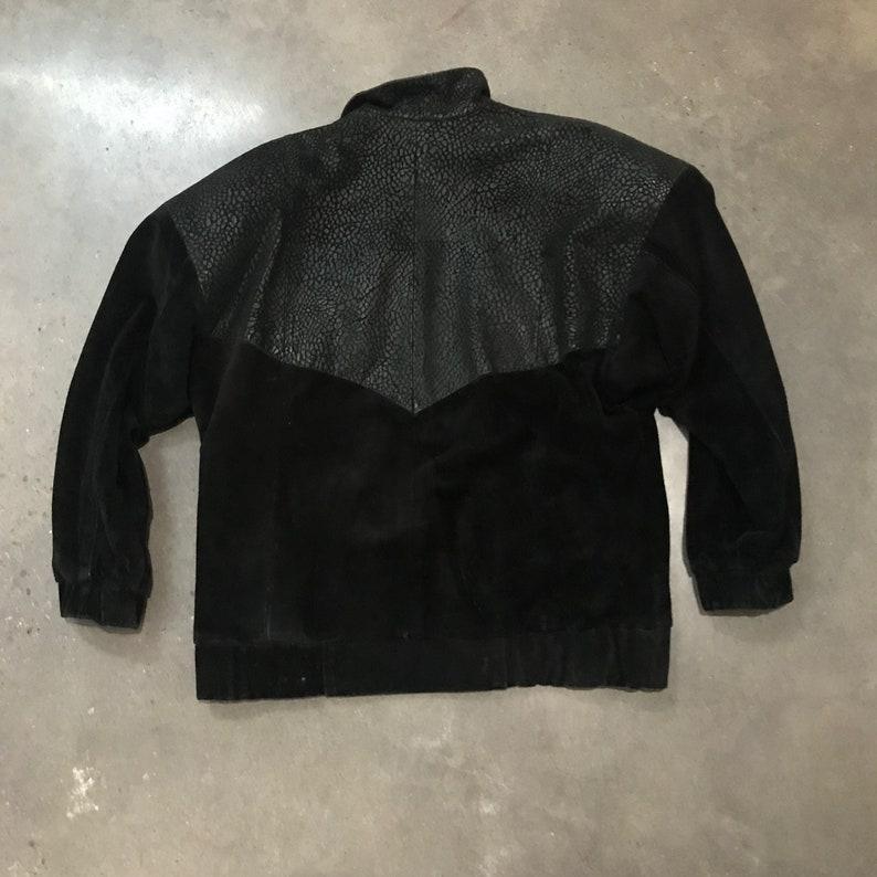 80s Leather Jacket  Bomber Jacket  Suede Jacket  Vintage Leather Jacket
