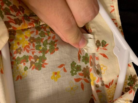 Floral Button Up 70s Blouse - image 4