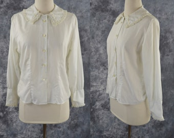4140565a09515 1960s White Long Sleeve