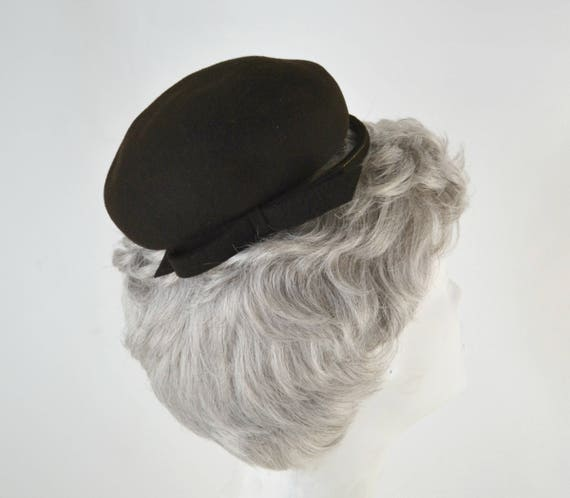 1950s Brown Felted Wool Fascinator by Haverhill R… - image 5