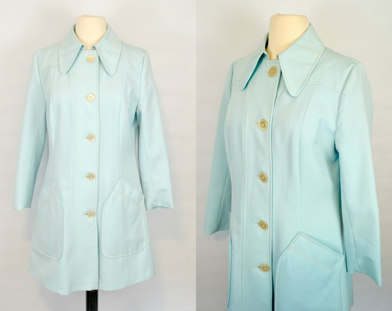 1960s Minty Blue/Aqua Spring/Summer Jacket by Fair Haven image 0