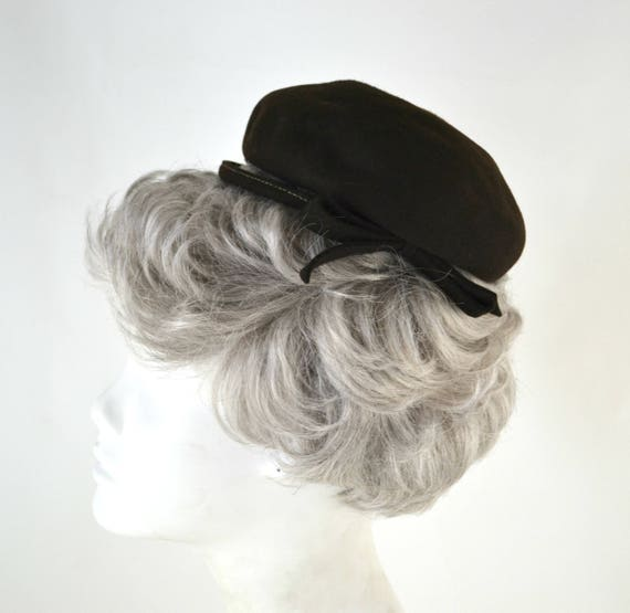 1950s Brown Felted Wool Fascinator by Haverhill R… - image 3