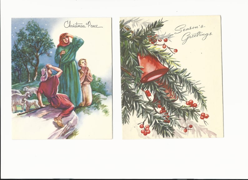 Vintage Christmas/Holiday Peace Greeting Cards Set of 2 image 0