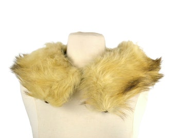 1960s Vintage Cream Arctic Fox Fur Stole, Collar, Winter, Wedding, Bridal