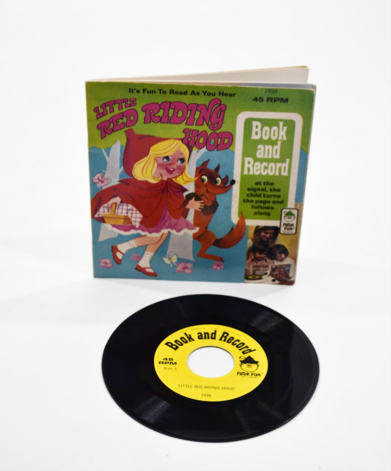 Vintage Little Red Riding Hood Read Along Book and 45 RPM image 0