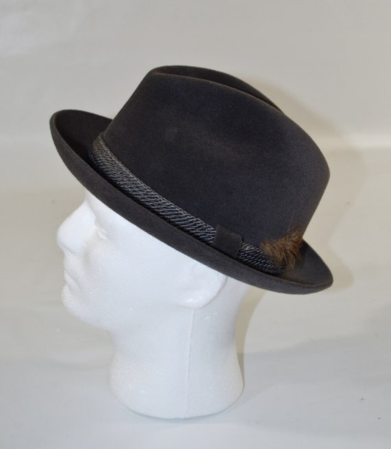 1960s/1970s Gray Velour Men's Fedora by Dobbs Fif… - image 3