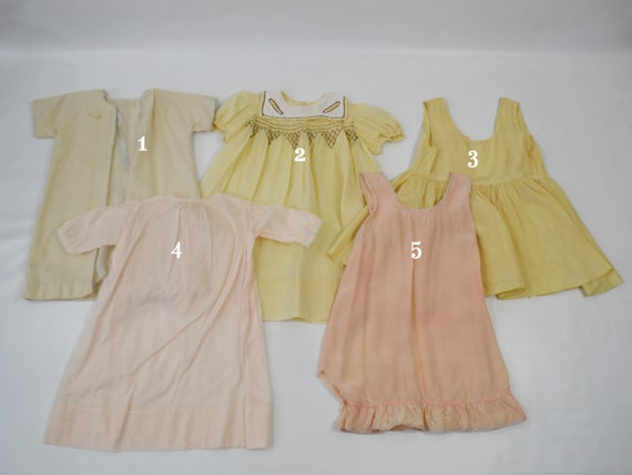 Vintage Lot of Infant and Toddler Nightgowns/Slip… - image 2