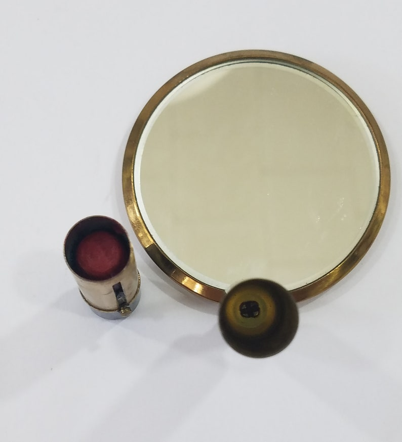 Vintage Fold Up Lipstick and Mirror Compact by Schildkraut image 0