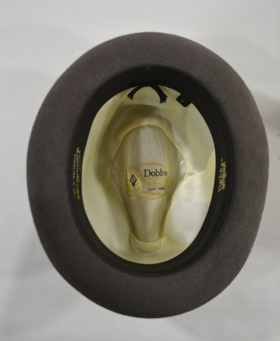 1960s/1970s Gray Velour Men's Fedora by Dobbs Fif… - image 8