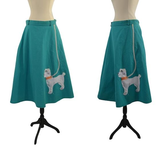 1980s Teal Poodle Skirt by Sas'sa, Poodle Needs TL