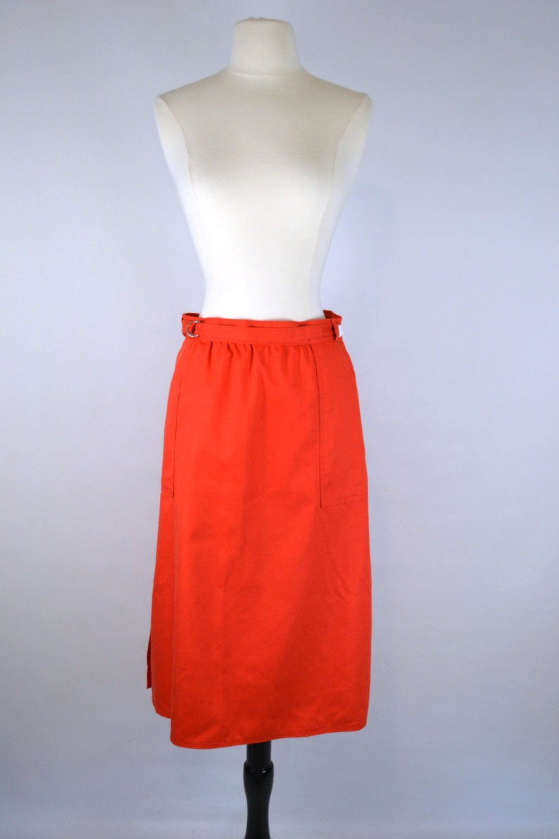 Vintage Orange Knee Length Wrap Skirt by White Stag Office image 0