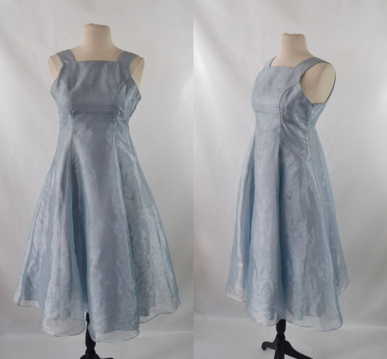 Vintage Girls Icy Blue Formal Dress by Jessica McClintock image 0