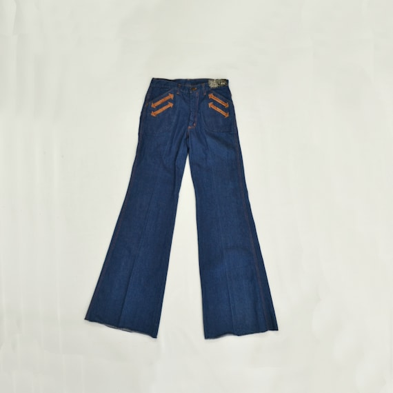 1970s NOS Wide Leg Blue Jeans by Wildfire Designed