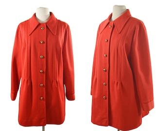 1960s Red Orange Jacket by Lane Bryant, VOLUP, Size XL