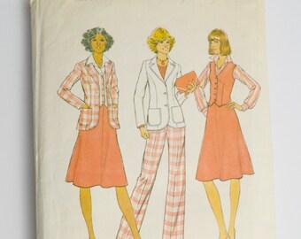 1970s Simplicity Pattern 7377 - Jacket, Pants, Skirt & Vest, Sewing Pattern