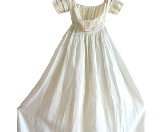 Darling Victorian Antique Infant Christening Gown, Pale Pale Light Blue