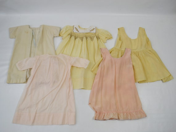 Vintage Lot of Infant and Toddler Nightgowns/Slips