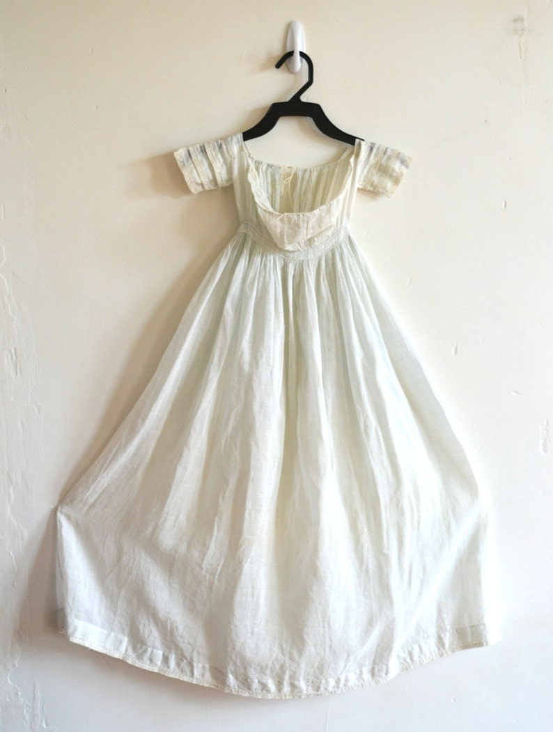 Darling Victorian Antique Infant Christening Gown Pale Pale image 0