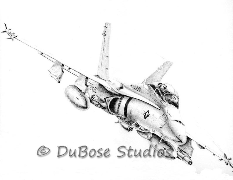 Fa 18 Hornet Drawing