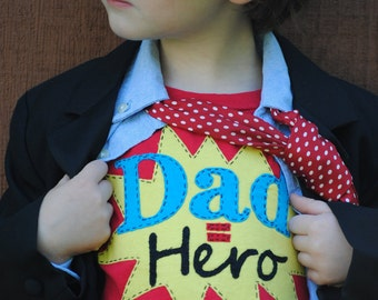 Daddy is my super hero- kids Father's Day tshirt