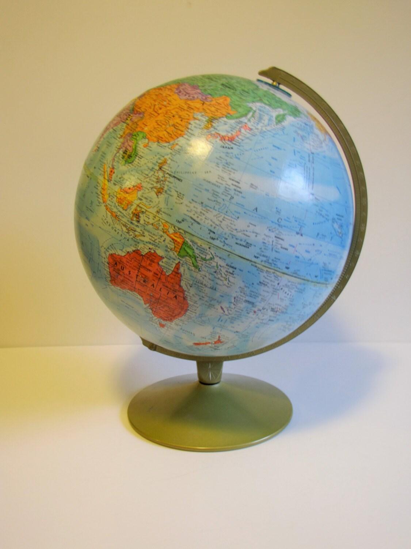 Vintage Globe Replogle World Nation Series Globe 12 Le