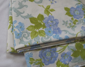 RESERVED Vintage Flat Sheet/Fabric - (81 inches X 108 inches approx)