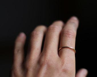 Thin Gold Band, Hammered Band, Stacking Ring, Rose Gold Wedding Band, Thin Ring, Handmade Wedding Band, 14 Karat Gold Ring, Custom Ring.