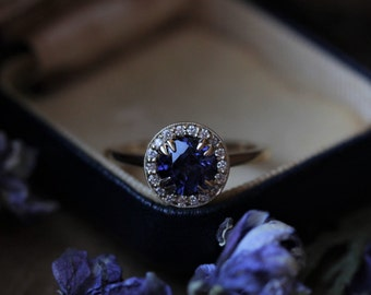 Custom Engagement Ring, Sapphire Engagement Ring, Diamond Halo Ring, Rose Gold Engagement Ring, Morganite Ring, Moissanite Engagement Ring.