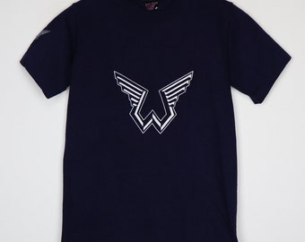Wings Shirt Vintage Tshirt 1976 Over America Capitol Records Promo Tee 1970s Paul McCartney Peace Love Rock And Roll Music Beatles