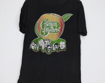 c7d684d4 Allman Brothers Band Shirt Vintage tshirt 1979 On Tour Gregg Duane Butch  Trucks Berry Oakley Southern Country Blues Rock and Roll