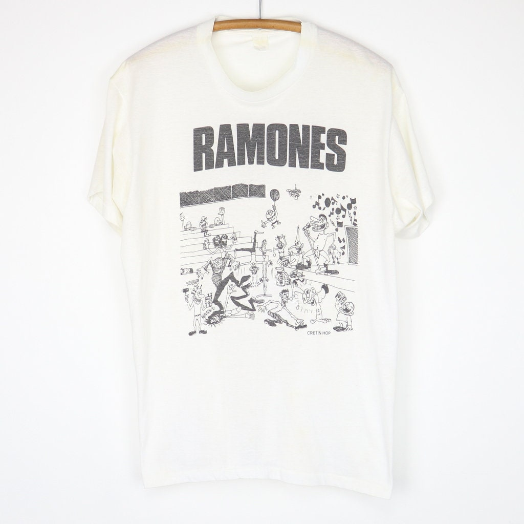 80s Tops, Shirts, T-shirts, Blouse   90s T-shirts Vintage 1980S Ramones Cretin Hop Shirt $600.00 AT vintagedancer.com
