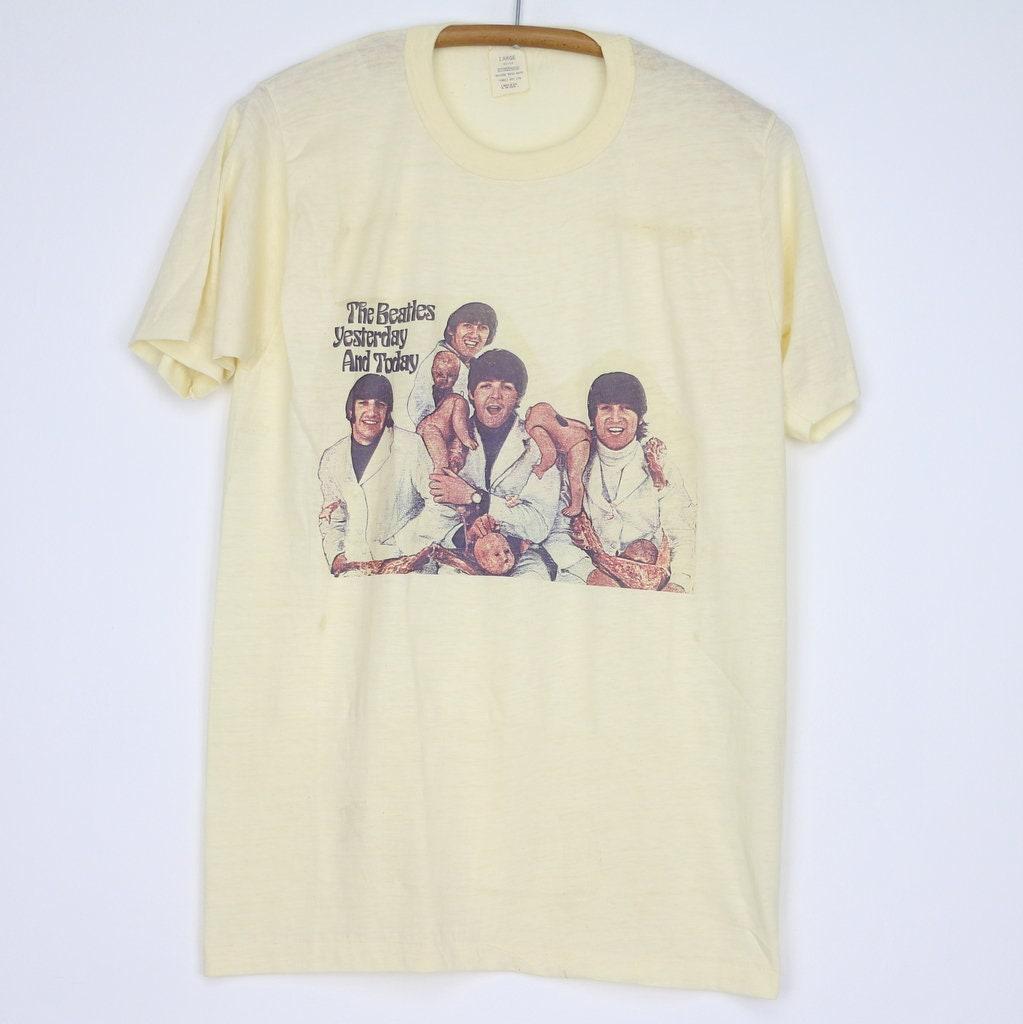 The Beatles 1970 English Rock Band White T Shirt Men Women Unisex Cotton Regular