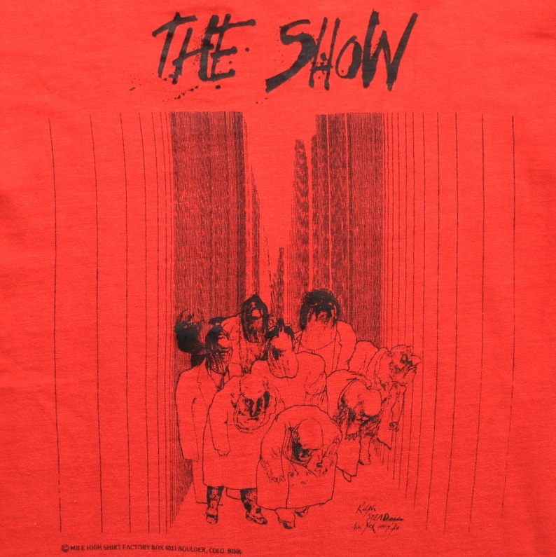 Ralph Steadman Shirt Vintage tshirt 1970s The Show British Gonzo Artist  Hunter S  Thompson Fear and Loathing in Las Vegas Psychedelic 70s