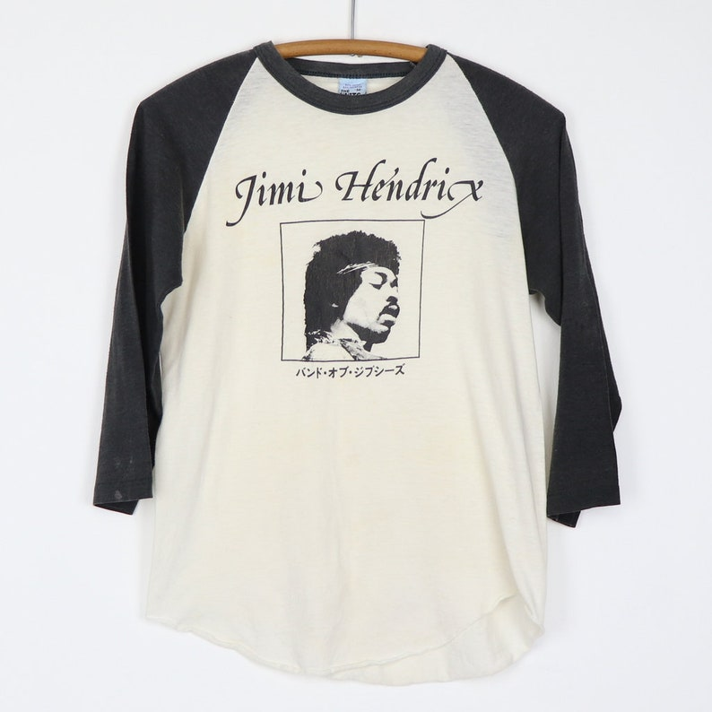 0541f70dd99 Jimi Hendrix Shirt Vintage tshirt 1982 Japan Raglan Jersey tee | Etsy