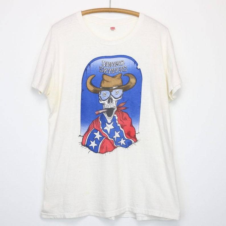 ff68644c0 Lynyrd Skynyrd Shirt Vintage tshirt 1970s Confederate Flag | Etsy
