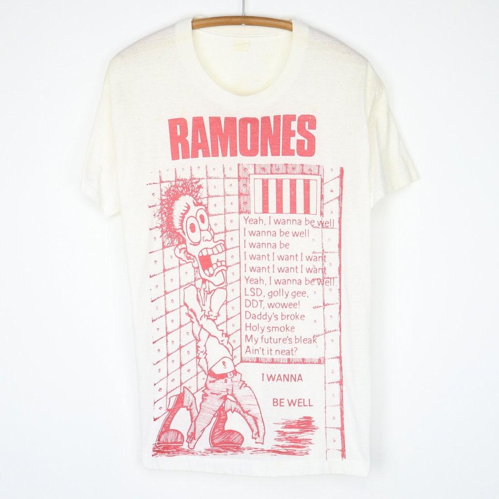 80s Tops, Shirts, T-shirts, Blouse   90s T-shirts Vintage 1980S Ramones I Wanna Be Well Shirt $480.00 AT vintagedancer.com