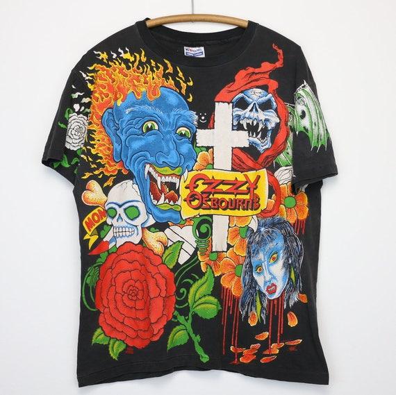 04122407215 Ozzy Osbourne Shirt Vintage tshirt 1992 No More Tours Tour All
