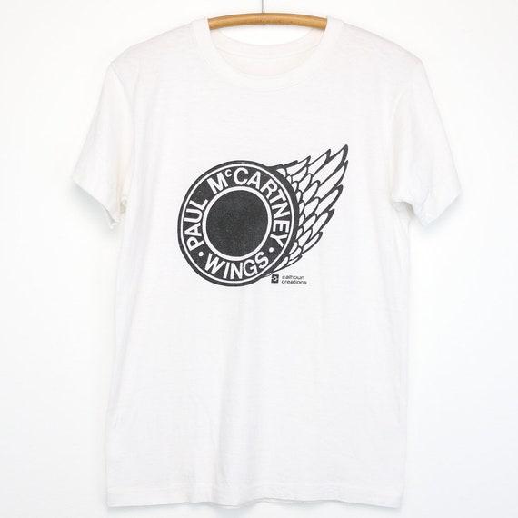 Paul Mccartney Mens Fashion T-Shirt-Wings Over America Black