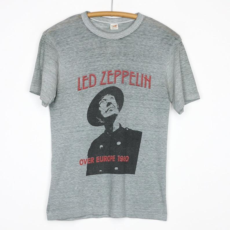 b688d075 Led Zeppelin Shirt Vintage tshirt 1980 Over Europe Tour | Etsy