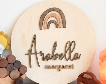 wooden name sign for nursery - personalized name sign for girl or boy bedroom, custom name sign for kids wall