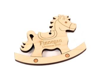 Montessori inspired toy Horse rocker Waldorf child gift Wooden rocking toy Personalized Rocking Horse Rocking Toys Wooden carving horse