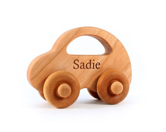 natural LOVE BUG car - a personalized wooden toy handcrafted with  sustainable hardwoods 508ec1dcf5