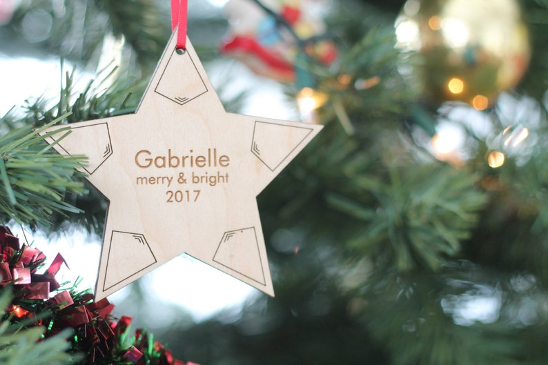 18bd84703 Personalized star of Bethlehem ornament ideal gift for