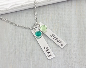 Personalized Name Necklace - Hand Stamped Jewelry - Mom Necklace with Kids Names - Personalized Mom Necklace - Gift for Mom - Mothers Gift