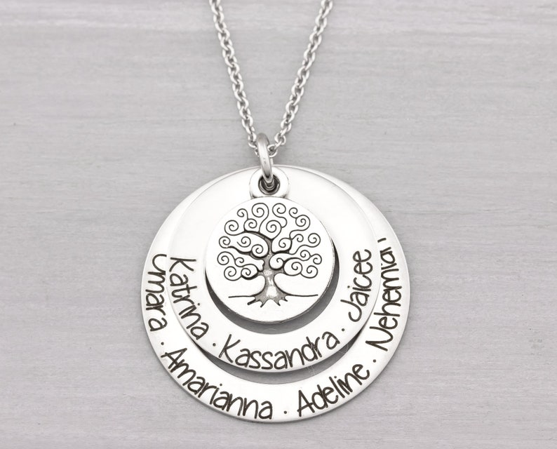 Personalized Family Name Jewelry  Personalized Family Tree image 0