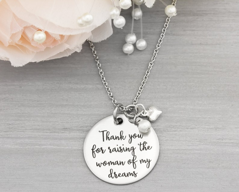 Personalized Wedding Jewelry  Gift for Mother of the Groom  image 0