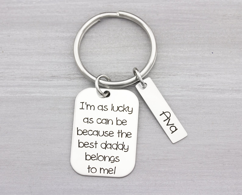 Custom Key Chain Gift  Personalized Key Chain for Dad or Mom image 0